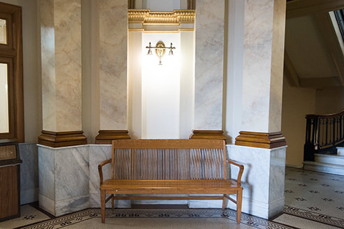 Columns and wainscot